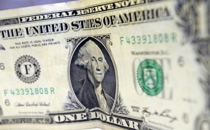 Reprodução de uma nota de um dólar - Arquivo/Agência Brasil